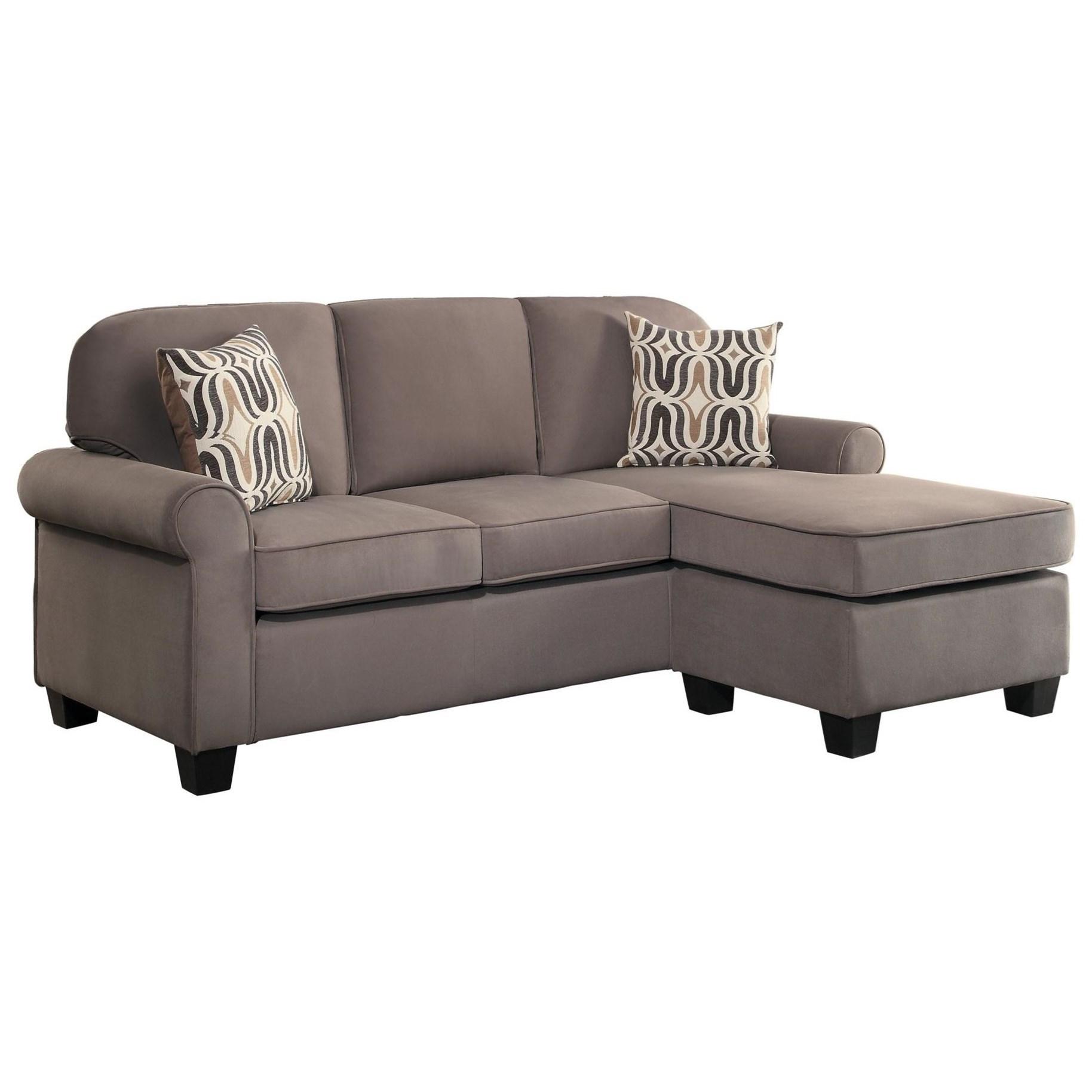 elena reversible chaise sofa cushion alternatives homelegance sprague transitional with
