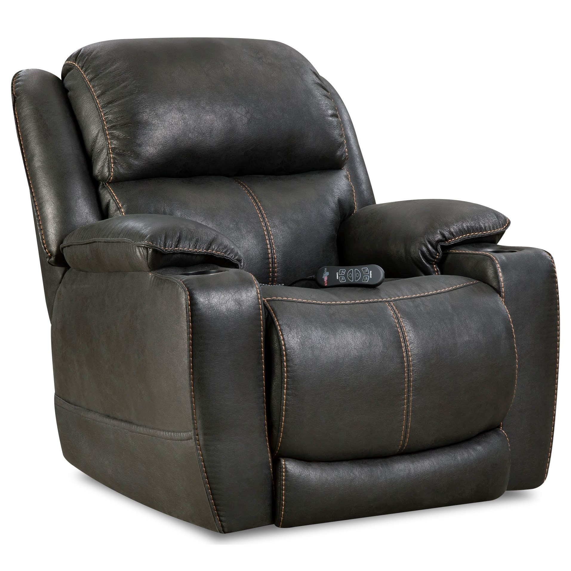 theater chairs with cup holders wooden lounge chair homestretch starship casual home recliner