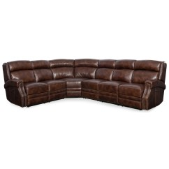Nailhead Recliner Sofa Black Leather Beige Carpet Hooker Furniture Carlisle Power Reclining Sectional With