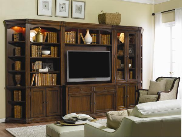 Hooker Furniture Cherry Creek Traditional Modular Wall System with Entertainment Unit | Olinde's ...