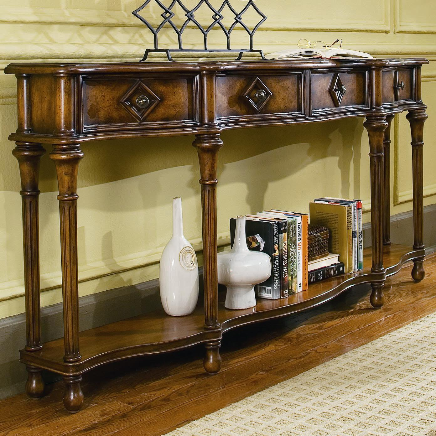 72 sofa table serta upholstery in abington safari hooker furniture chests and consoles inch hall console