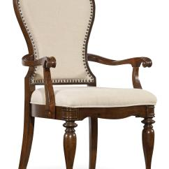 Upholstered Arm Dining Chair Space Saver High Fisher Price Hooker Furniture Leesburg With Nail
