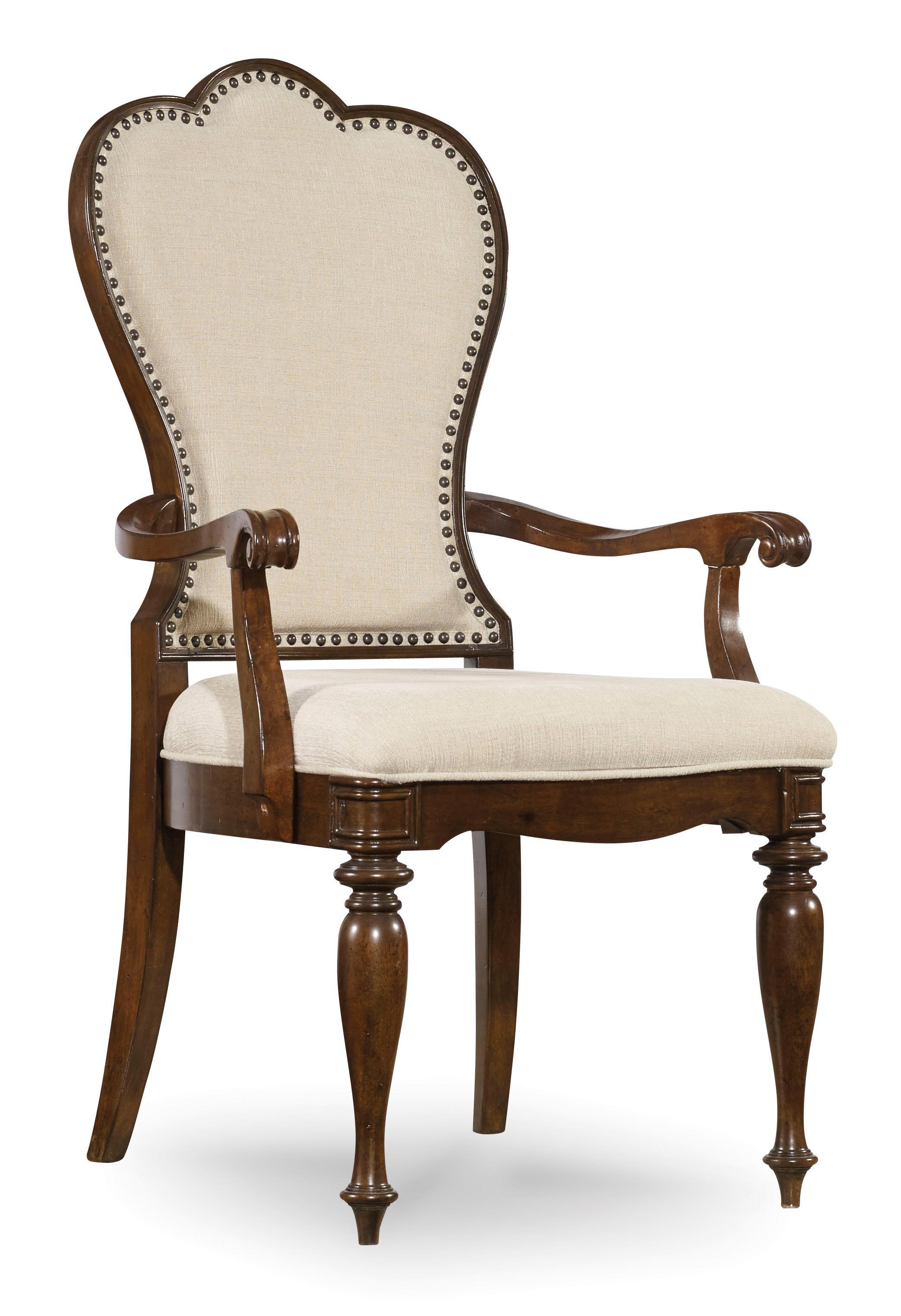 Upholstered Arm Chairs Hooker Furniture Leesburg Upholstered Arm Chair With Nail