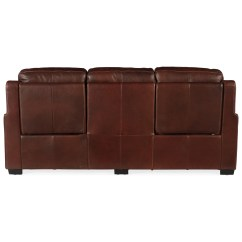 Caruso Leather 5 Piece Power Motion Sectional Sofa Grey Canvas Slipcover Hooker Furniture Lincoln Ss631 P3 078 Transitional