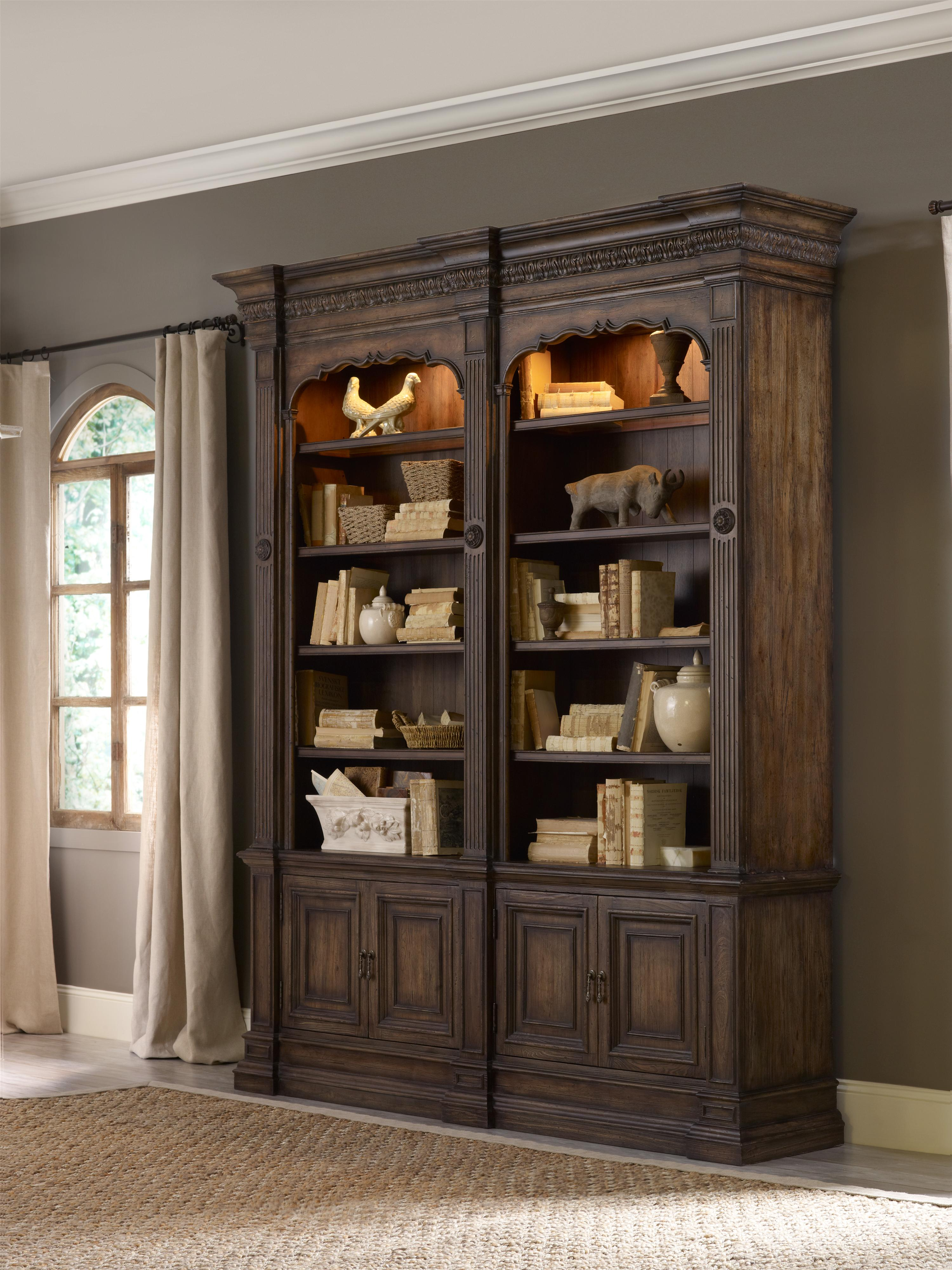 Hooker Furniture Rhapsody Double Bookcase With Touch