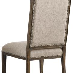 Upholstered Chair With Nailhead Trim Wooden Deck Chairs Hooker Furniture Rhapsody Dining Side