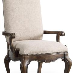 Upholstered Chair With Nailhead Trim Lifts Hooker Furniture Rhapsody Dining Arm
