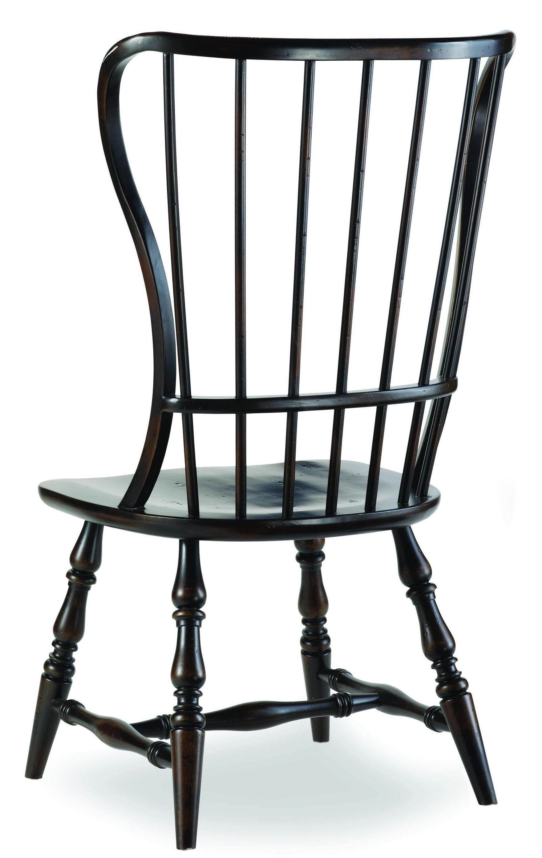 Spindle Dining Chairs Hooker Furniture Sanctuary Spindle Back Side Chair