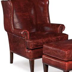 Traditional Leather Wingback Chair Bean Bag Chairs For Babies Hooker Furniture Club Wing Back