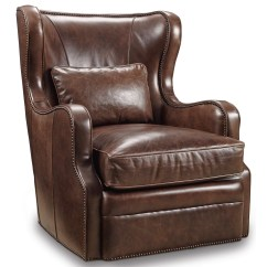 Swivel Chair Keeps Turning Knoll Regeneration Review Hooker Furniture Club Chairs Traditional