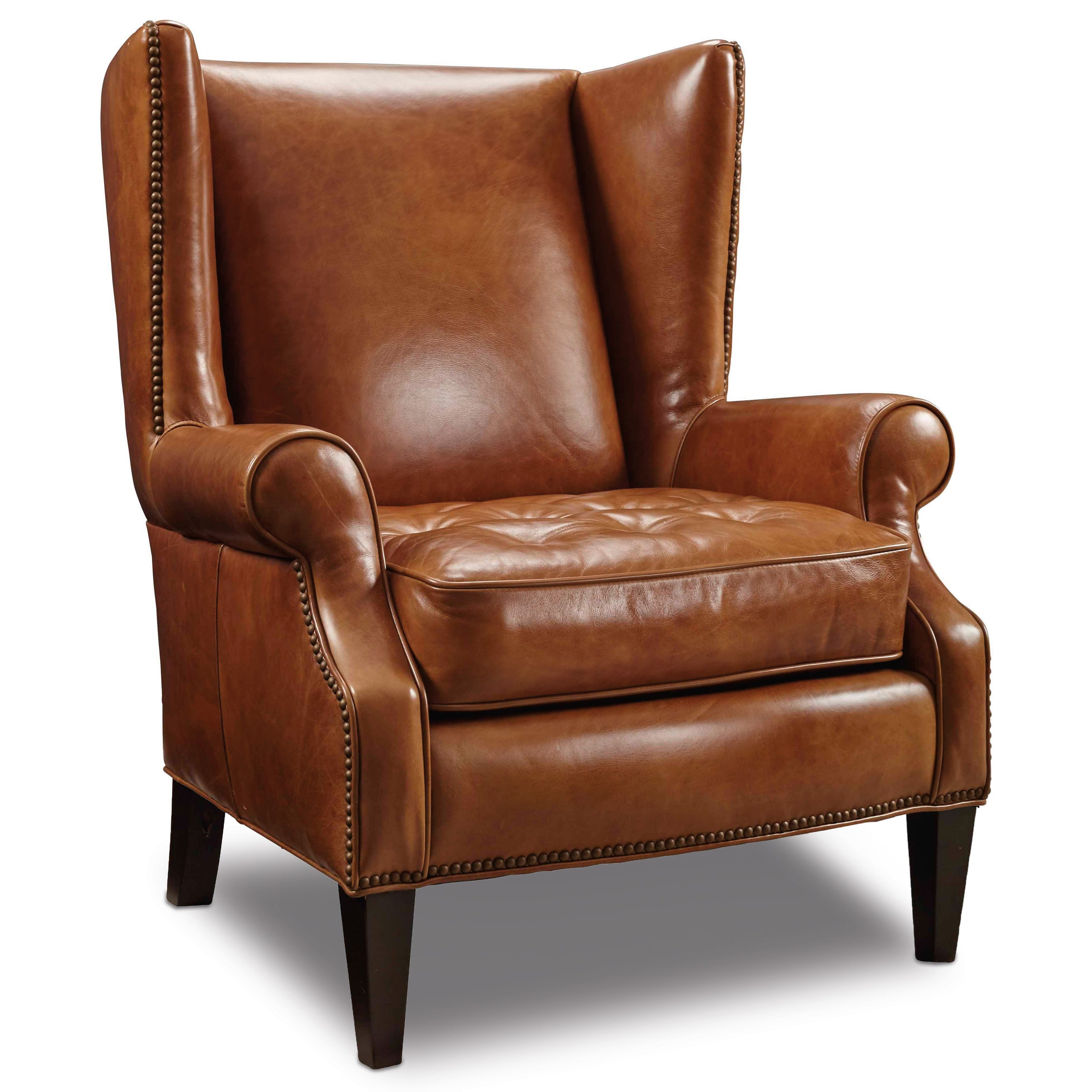 traditional leather wingback chair how to do upholstery on a hooker furniture club chairs wing back