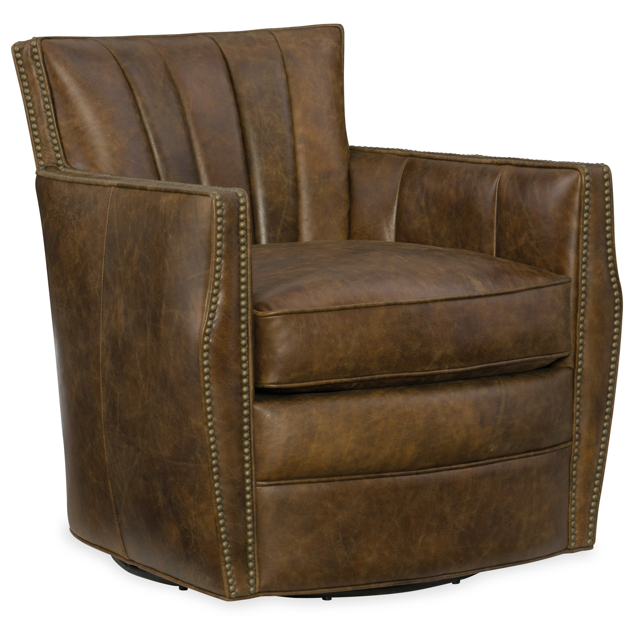 swivel club chair recliner hanging india hooker furniture chairs carson