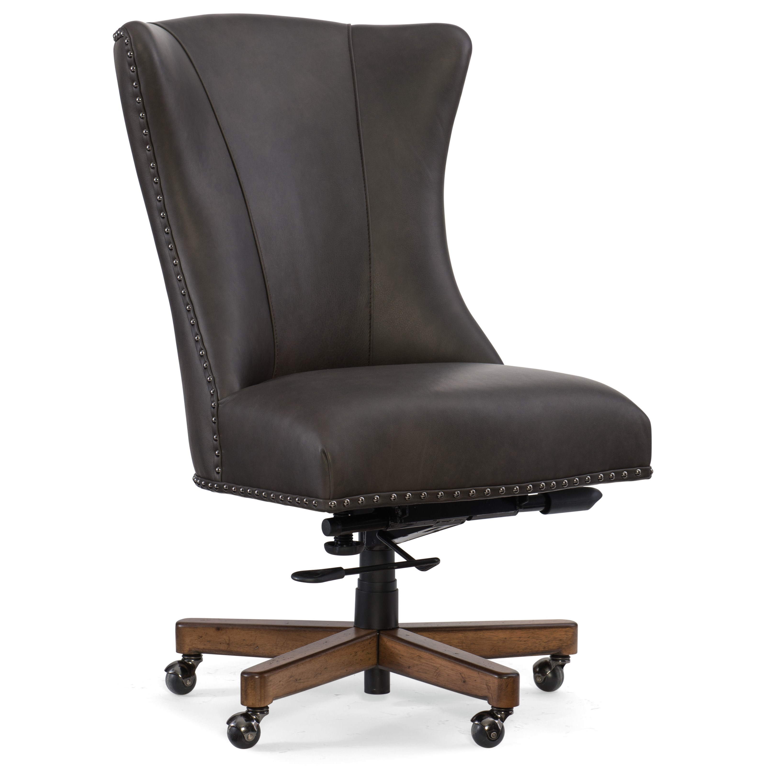 hooker desk chair grey striped covers furniture executive seating lynn home office