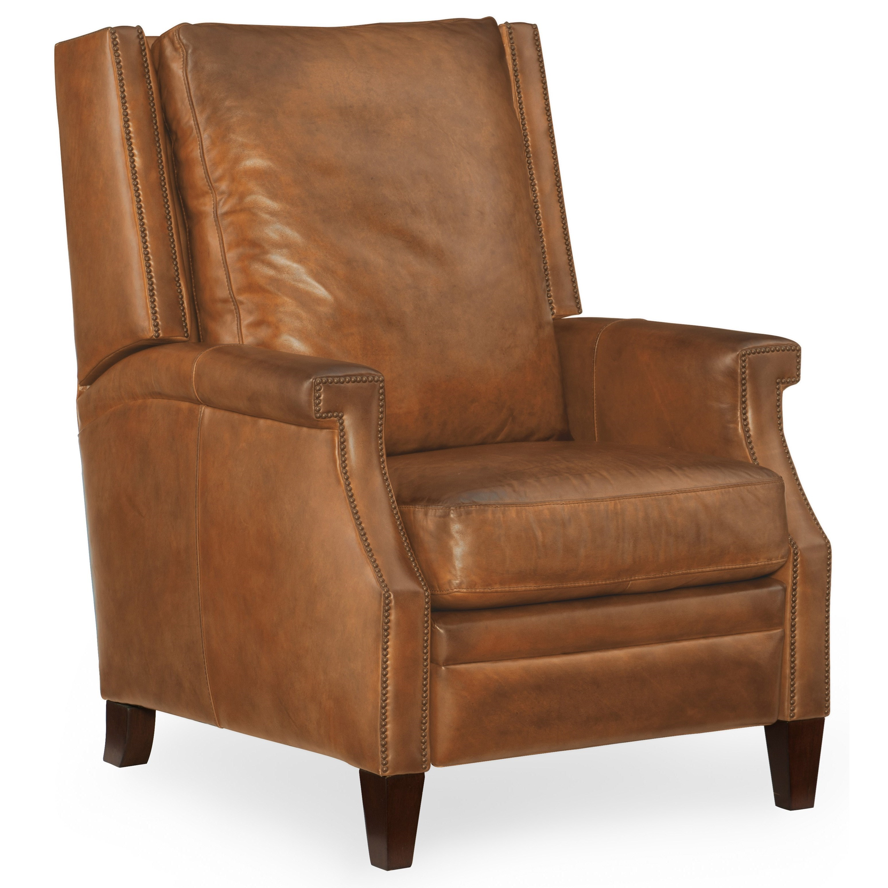 wing back chair recliner massage for car hooker furniture reclining chairs collin leather