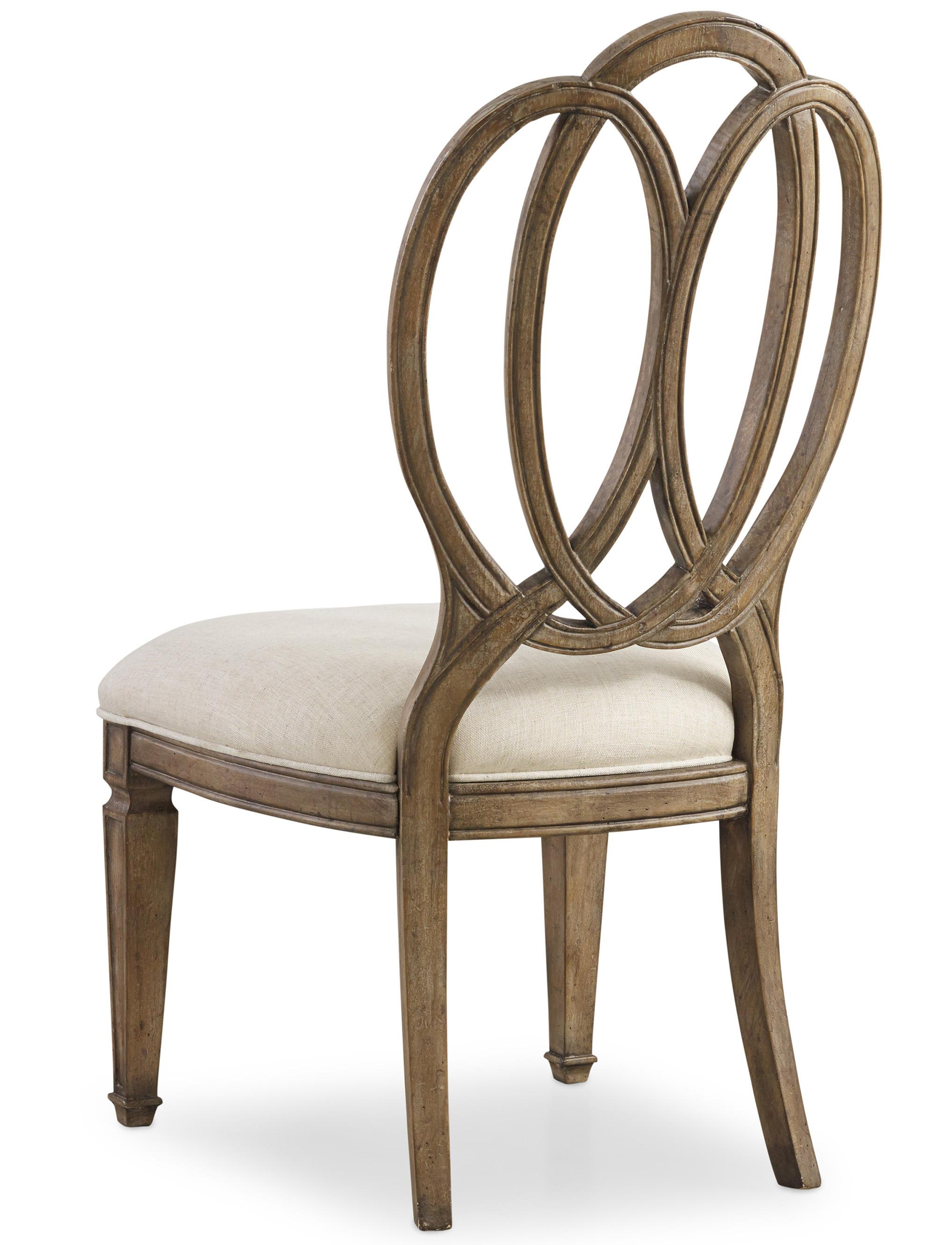 oval back dining room chairs chair covers seat only hooker furniture solana side with overlapping open