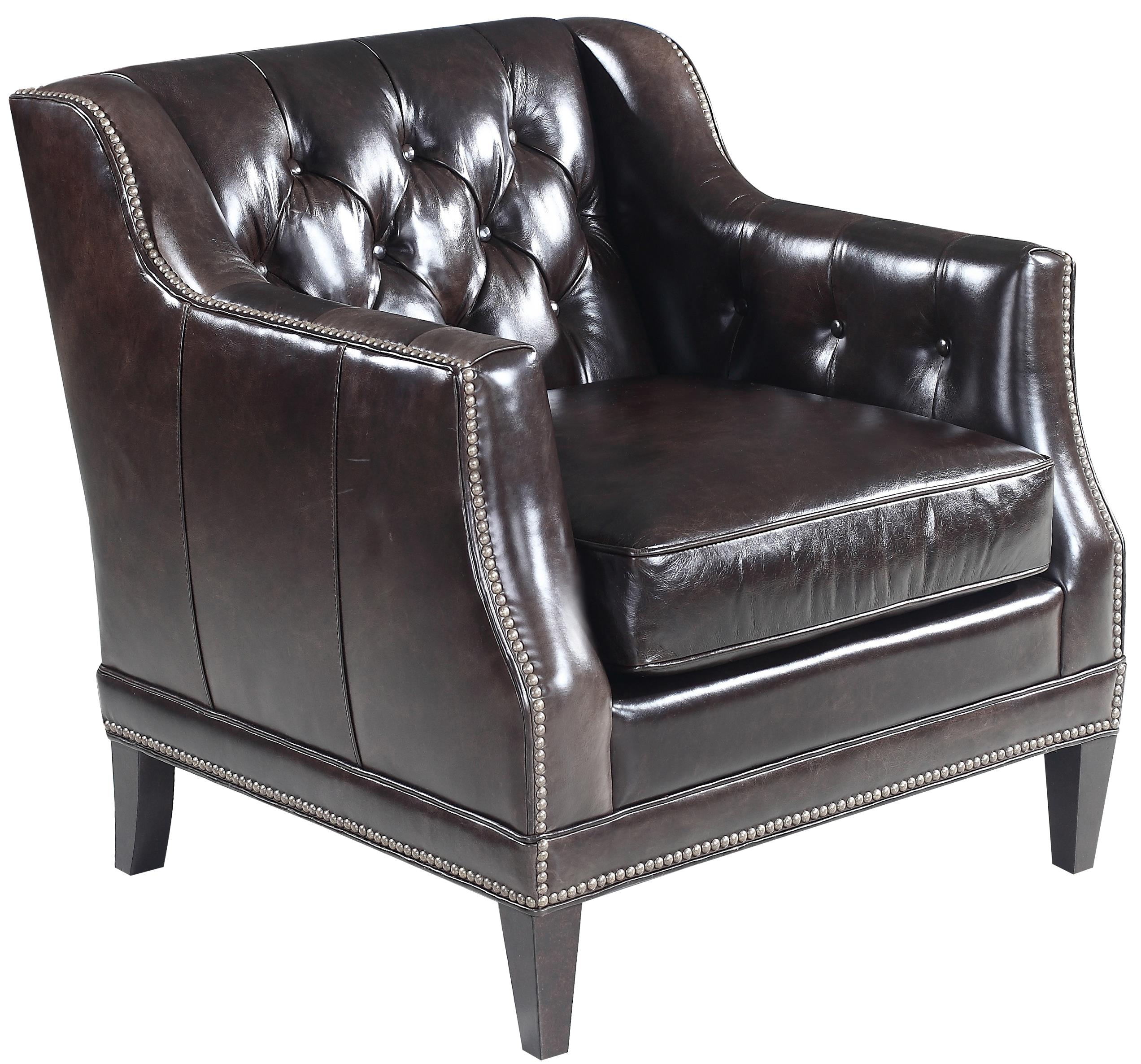 Hooker Leather Chair Hooker Furniture Ss355 Leather Stationary Chair With Track