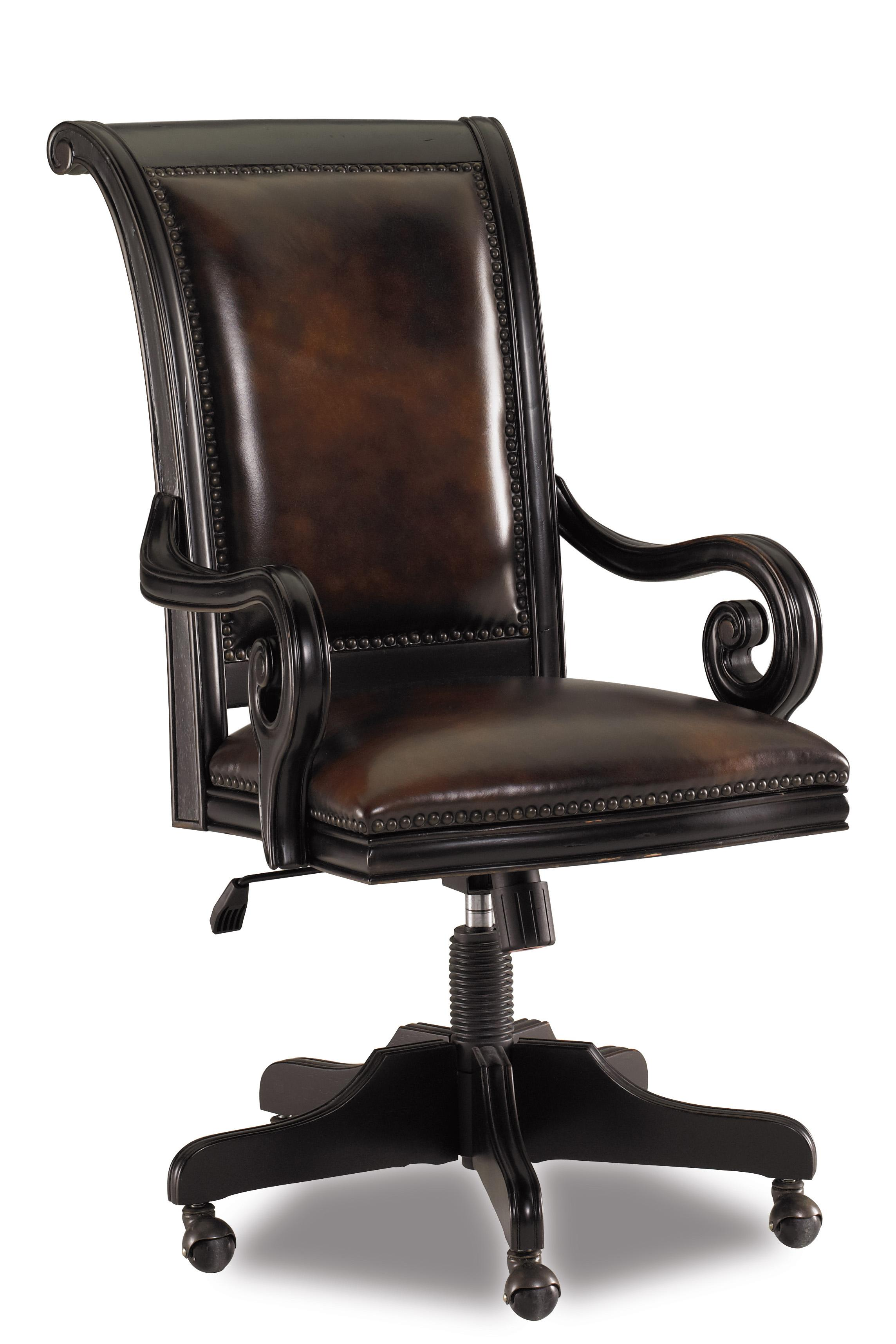 swivel office chair base tufted dining chairs hooker furniture telluride leather upholstered tilt