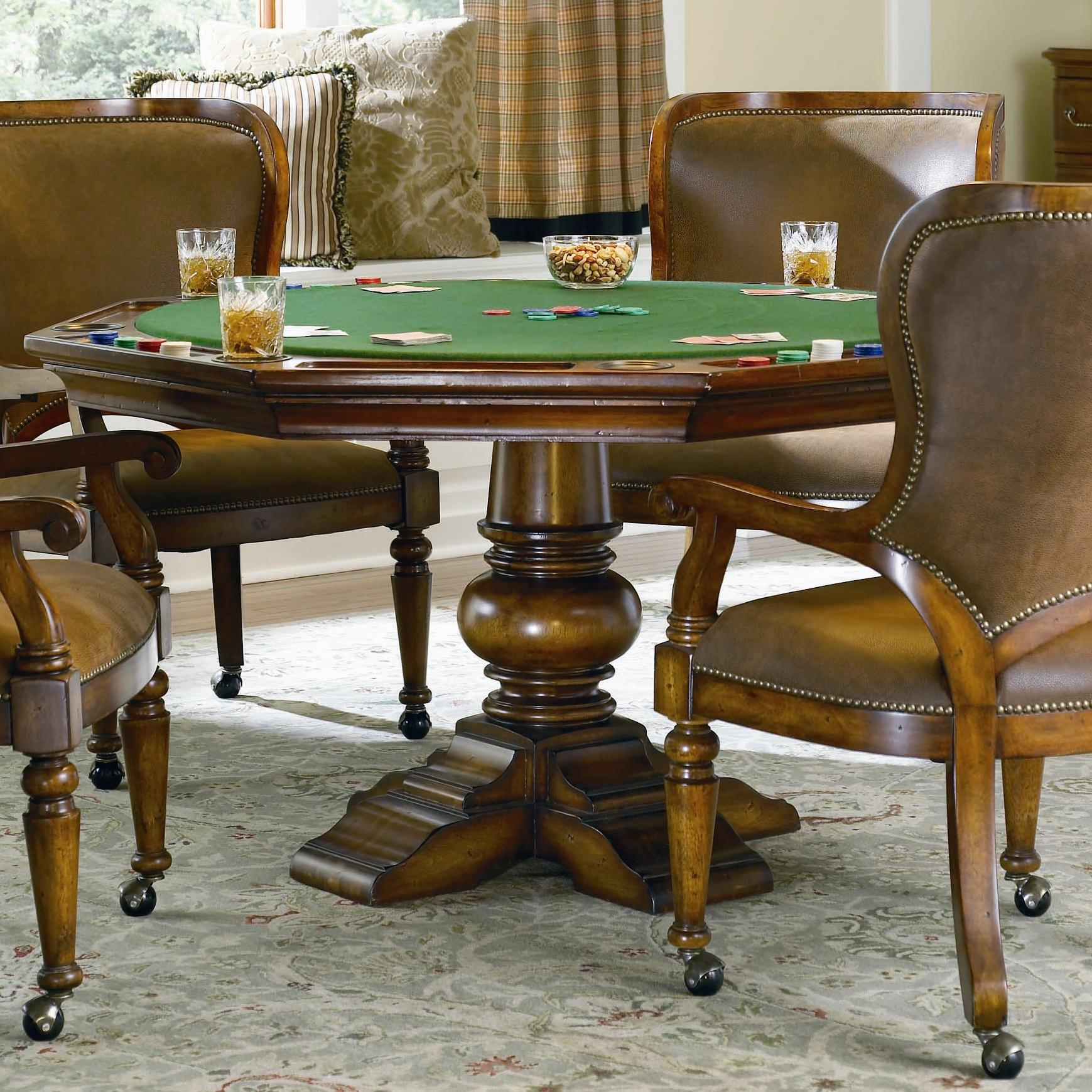 Poker Table With Chairs Hooker Furniture Waverly Place Reversible Top Poker Table