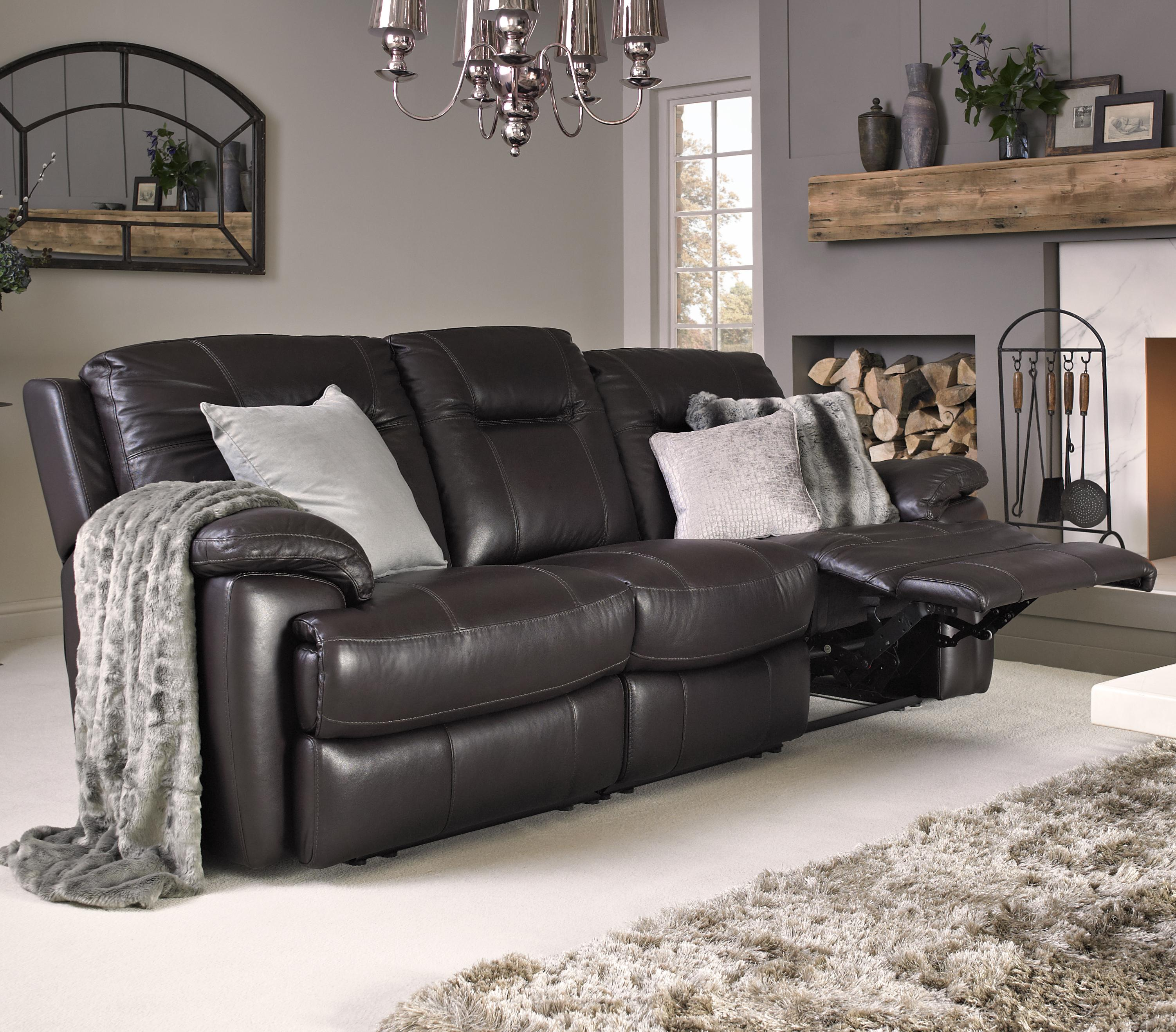 htl sofa range standard dimensions in cm 10136 contemporary leather match power fashion