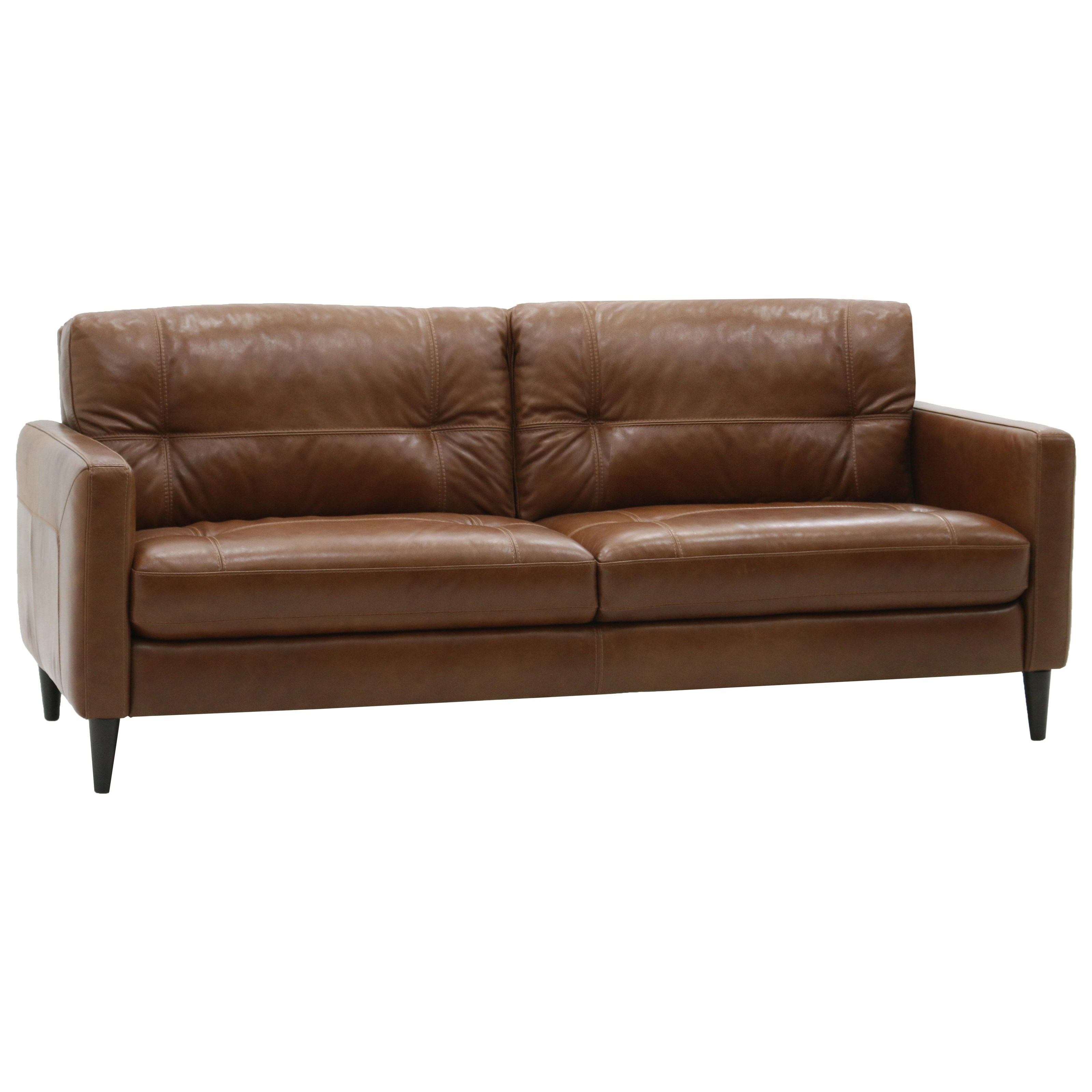 leather sofa washington dc chaise sectional sleeper belfort select gavin mid century modern with track