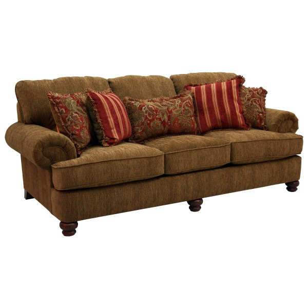 Jackson Furniture Belmont 4347-03 Sofa With Rolled Arms