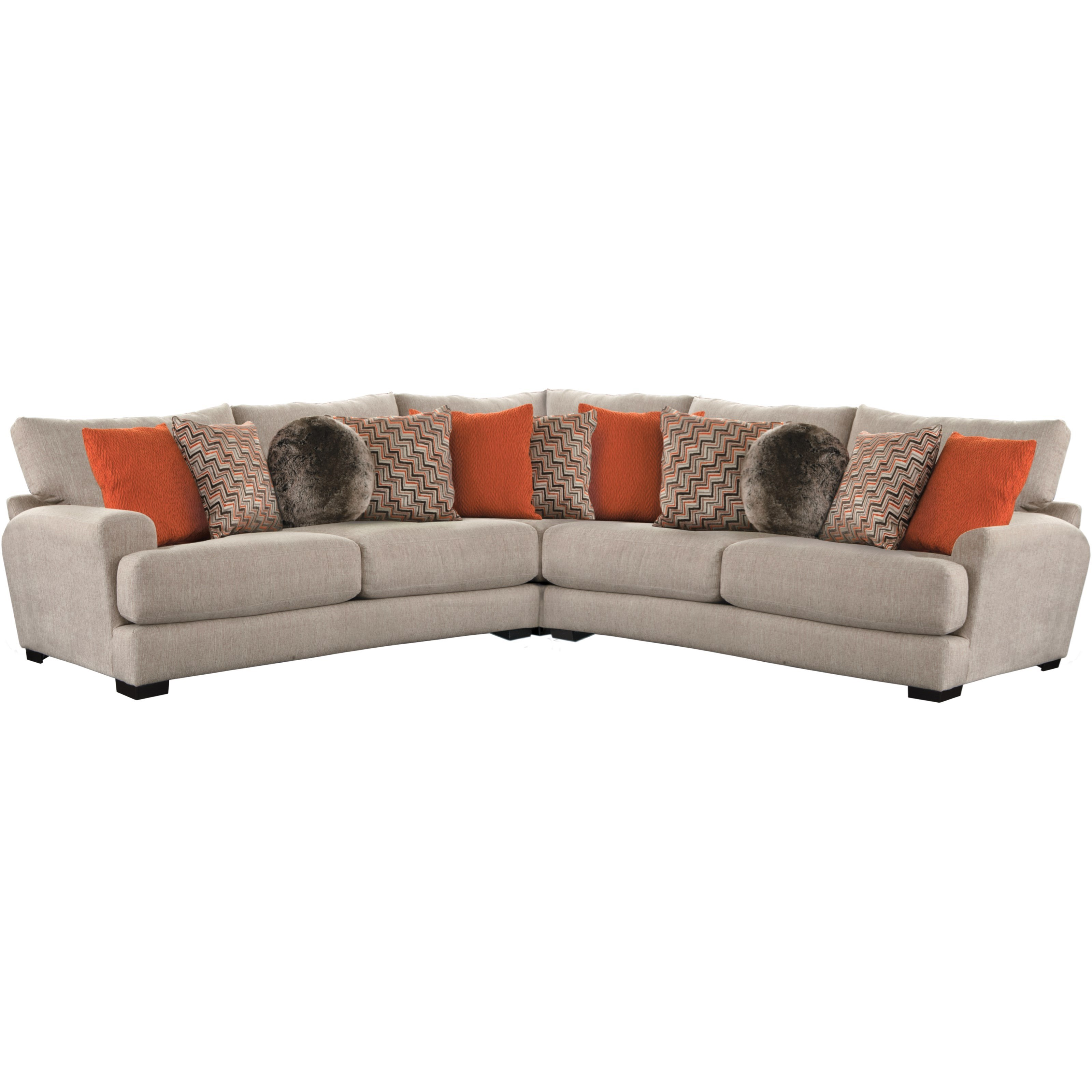 jackson furniture sectional sofas bi fold futon sofa bed frame only ava with 4 seats and 2 usb