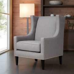 Barton Chair Accessories Reupholster Cushion With Piping Jla Home Wing Back Nailhead Simply
