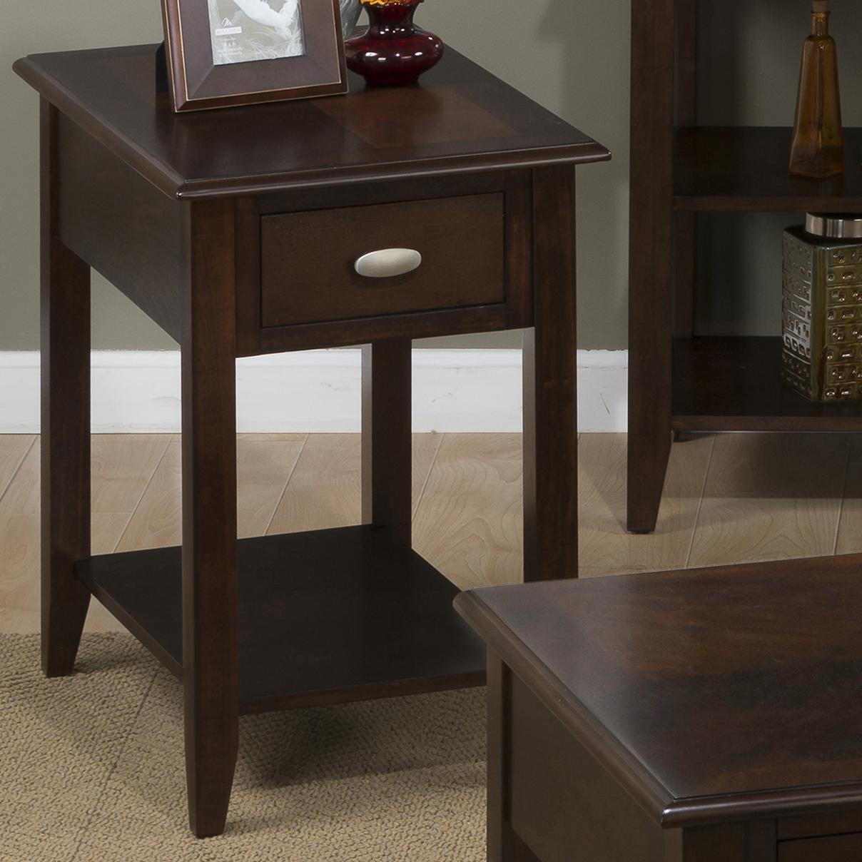 chair side end table ergonomic executive jofran merlot 1030 7 chairside for small spaces