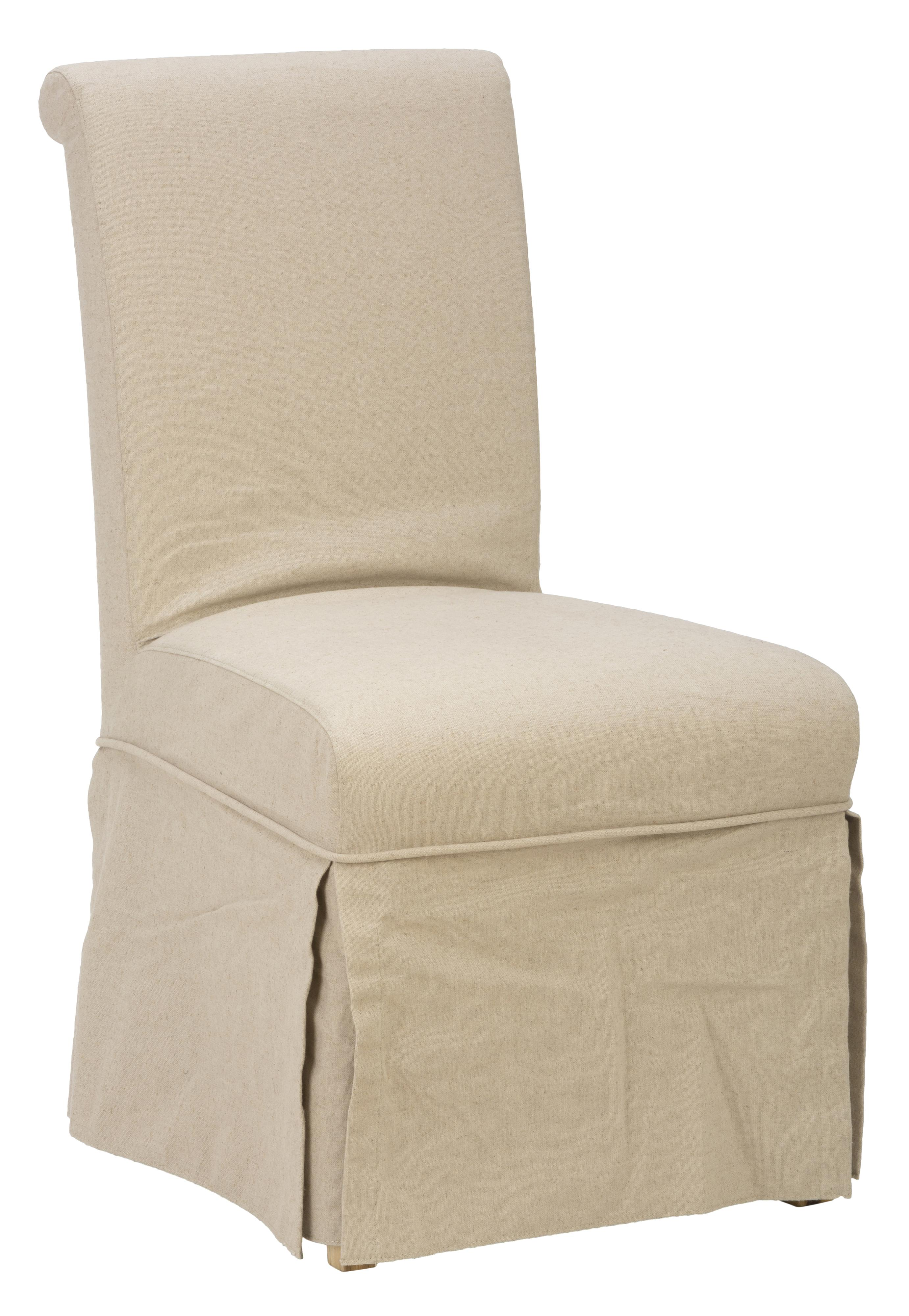 Linen Dining Chair Covers Jofran Slater Mill Pine Slipcover Skirted Parson Chair