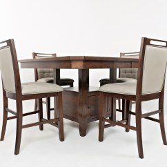 High Kitchen Table With Storage Island Trash Jofran Manchester Low Base