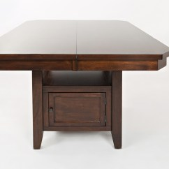 High Kitchen Table With Storage Ceramic Tile Countertops Jofran Manchester 1672 54tbkt Low