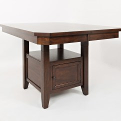 High Kitchen Table With Storage How Much To Remodel A Jofran Manchester 1672 54tbkt Low