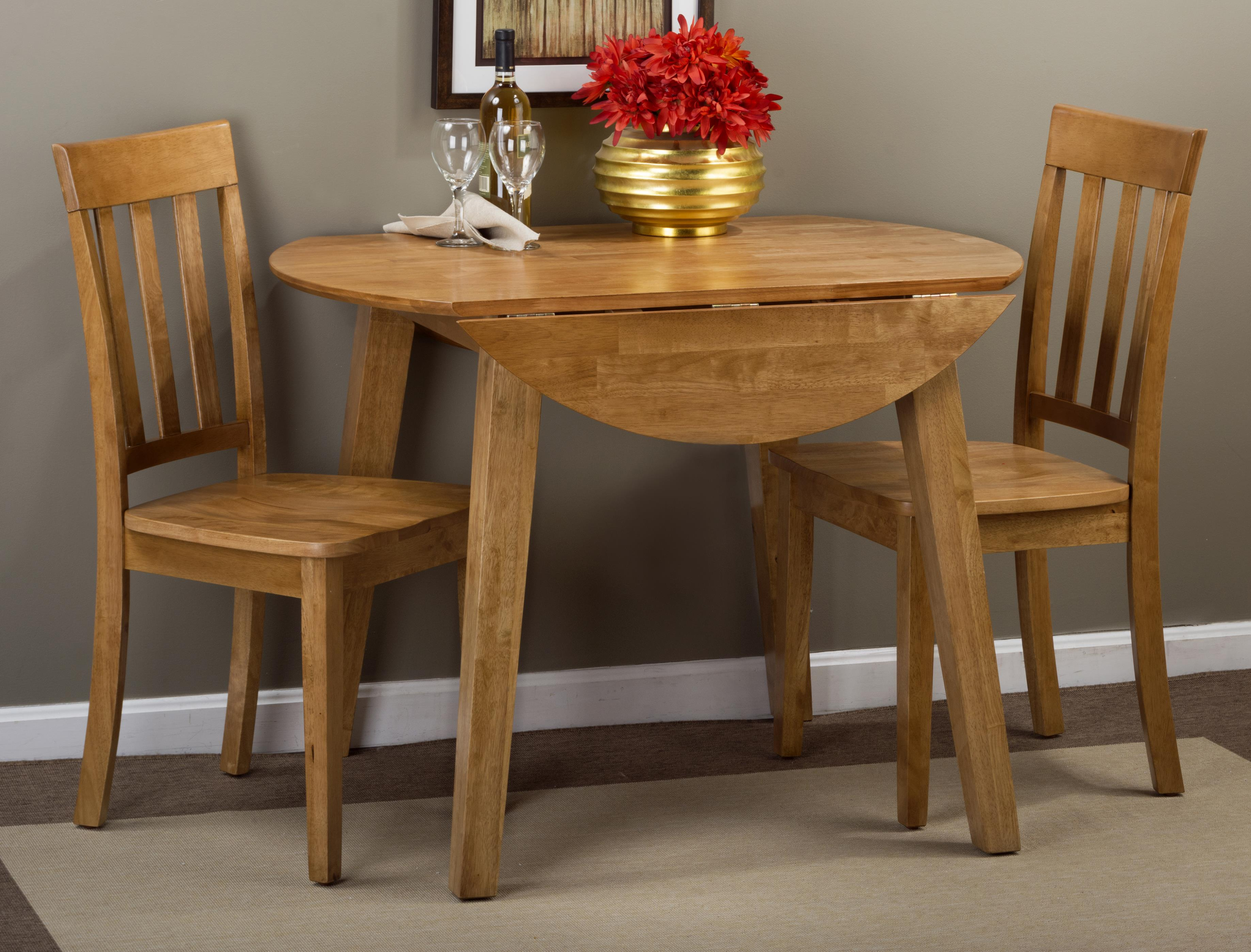 Round Table And Chair Set Jofran Simplicity Round Table And 2 Chair Set With Slat