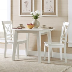 White X Back Chair Home Goods Chairs Kitchen 3x3x3 Round Table And 2 Set With Quotx Quot