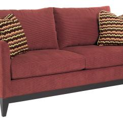 Contemporary Sofa With Wood Trim Modern Design Leather Kincaid Furniture Brooklyn Exposed
