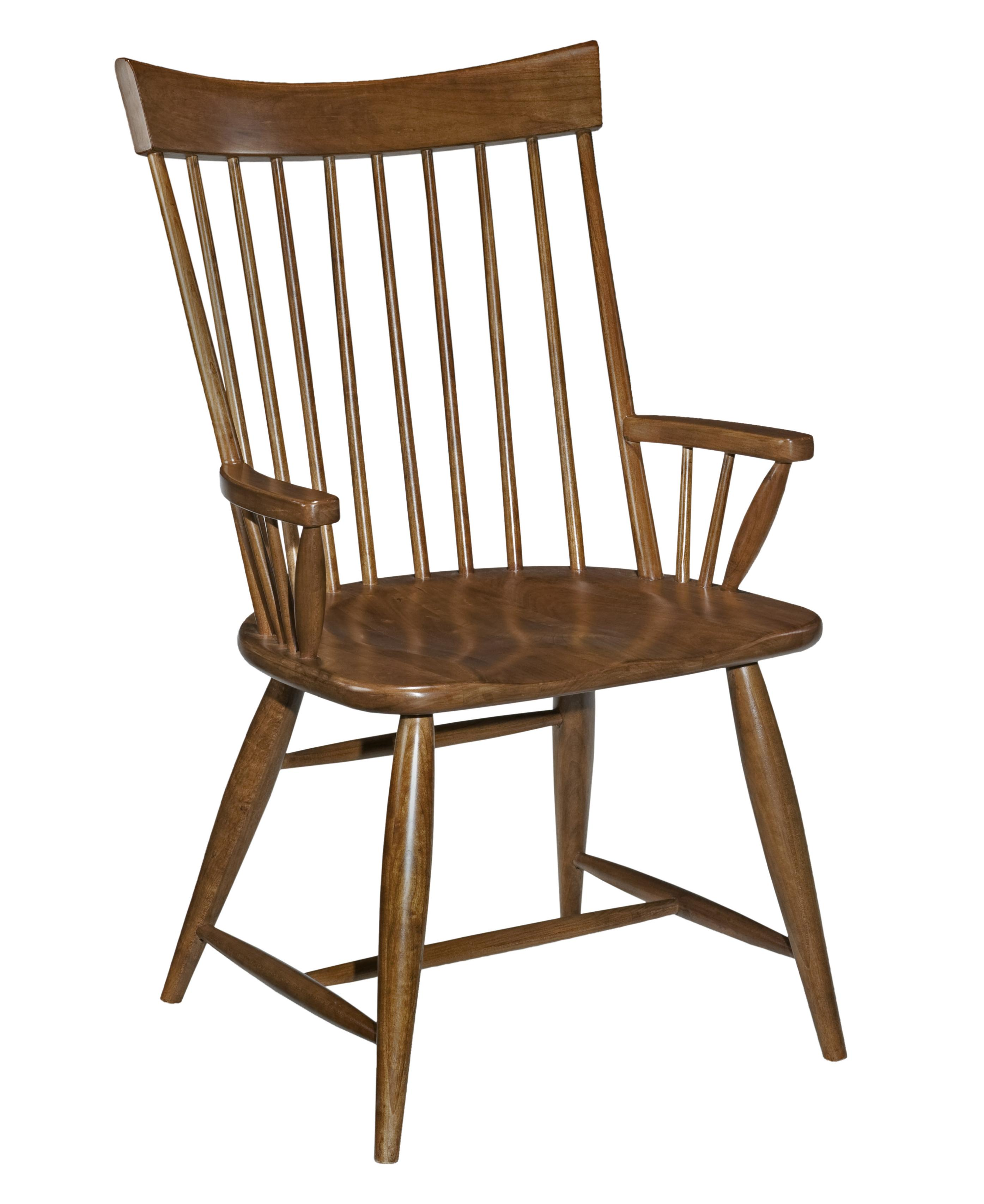 unfinished windsor chairs parsons faux leather kincaid furniture cherry park 63 064v solid