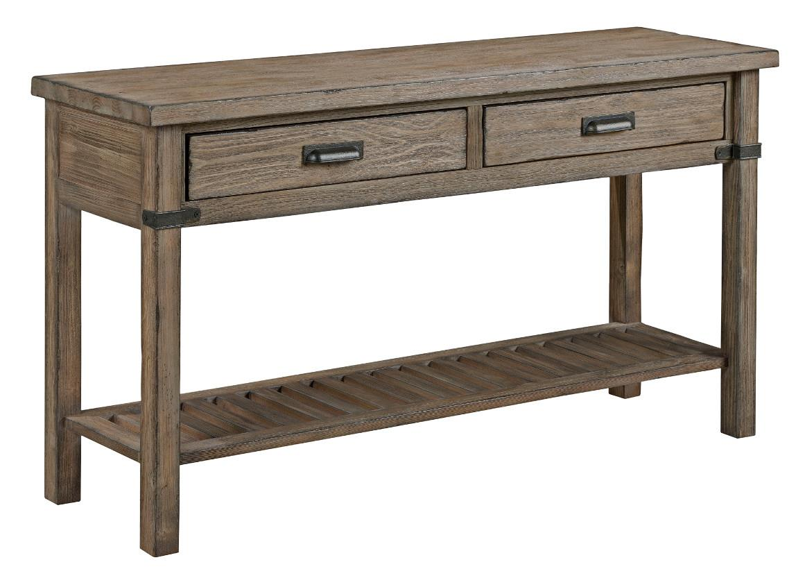 renate gray sofa table power recliner not working kincaid furniture foundry 59 025 rustic weathered