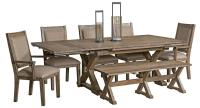 Kincaid Furniture Foundry Seven Piece Rustic Dining Set ...