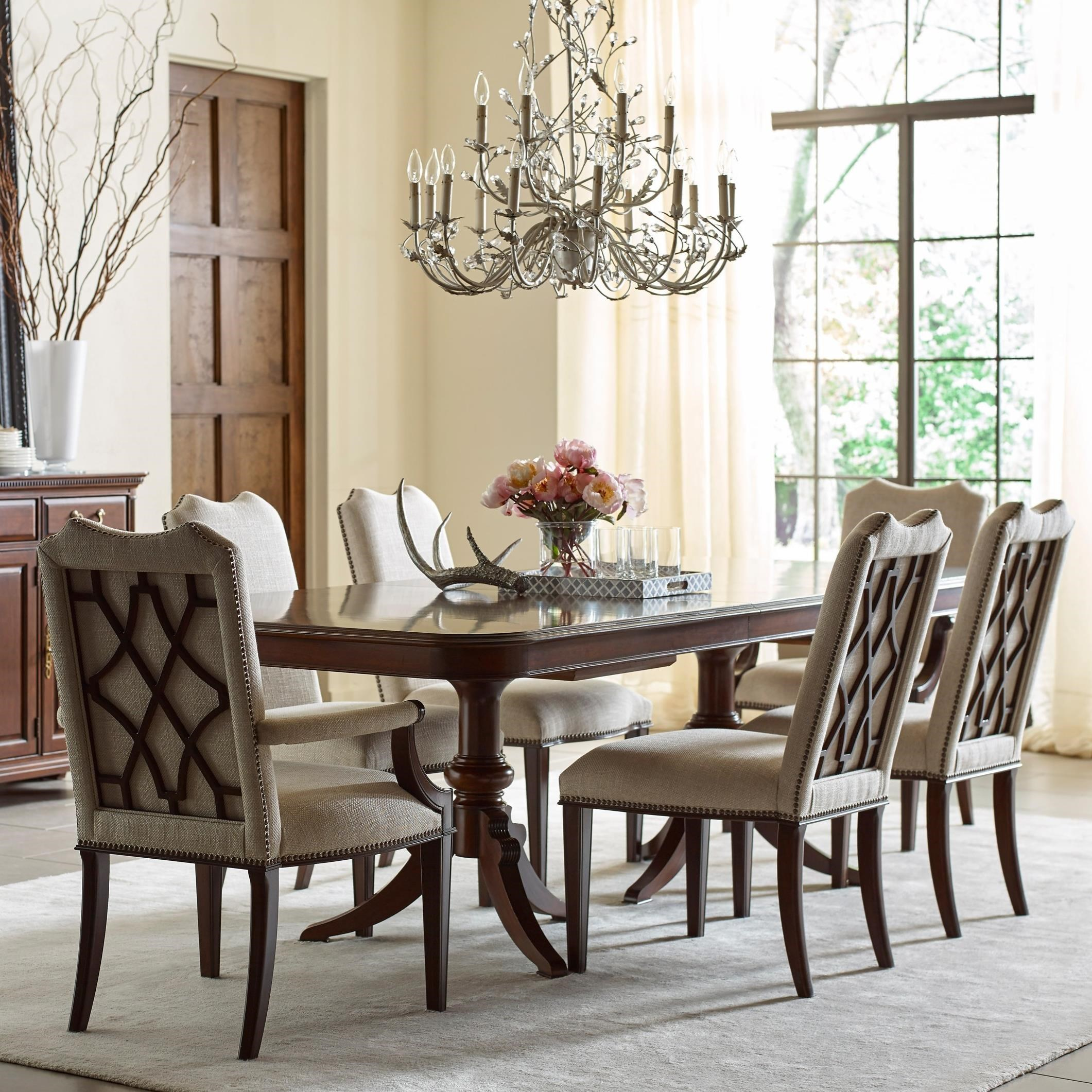 Dining Chairs Set Kincaid Furniture Hadleigh Seven Piece Formal Dining Set