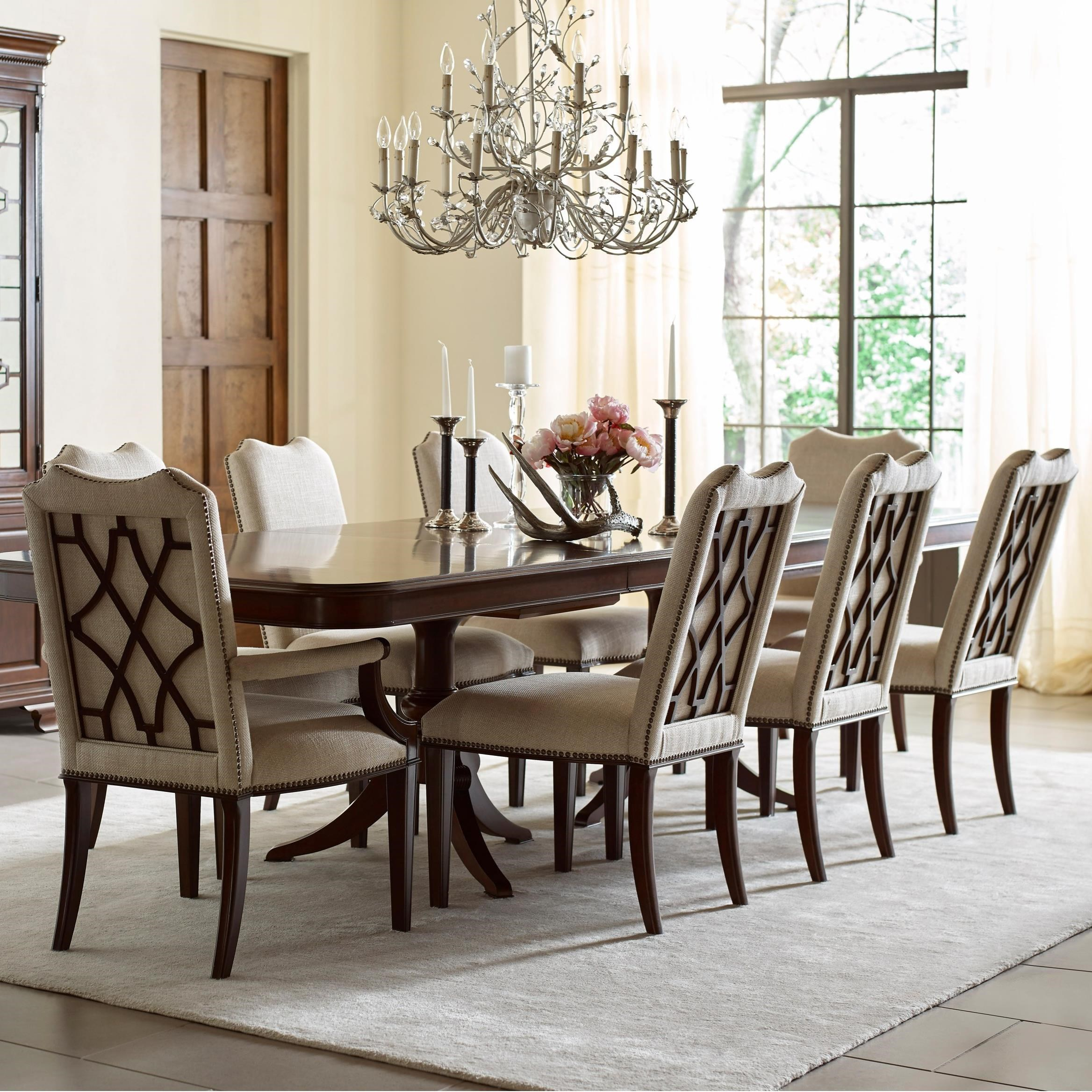 Dining Chairs Set Kincaid Furniture Hadleigh Nine Piece Formal Dining Set