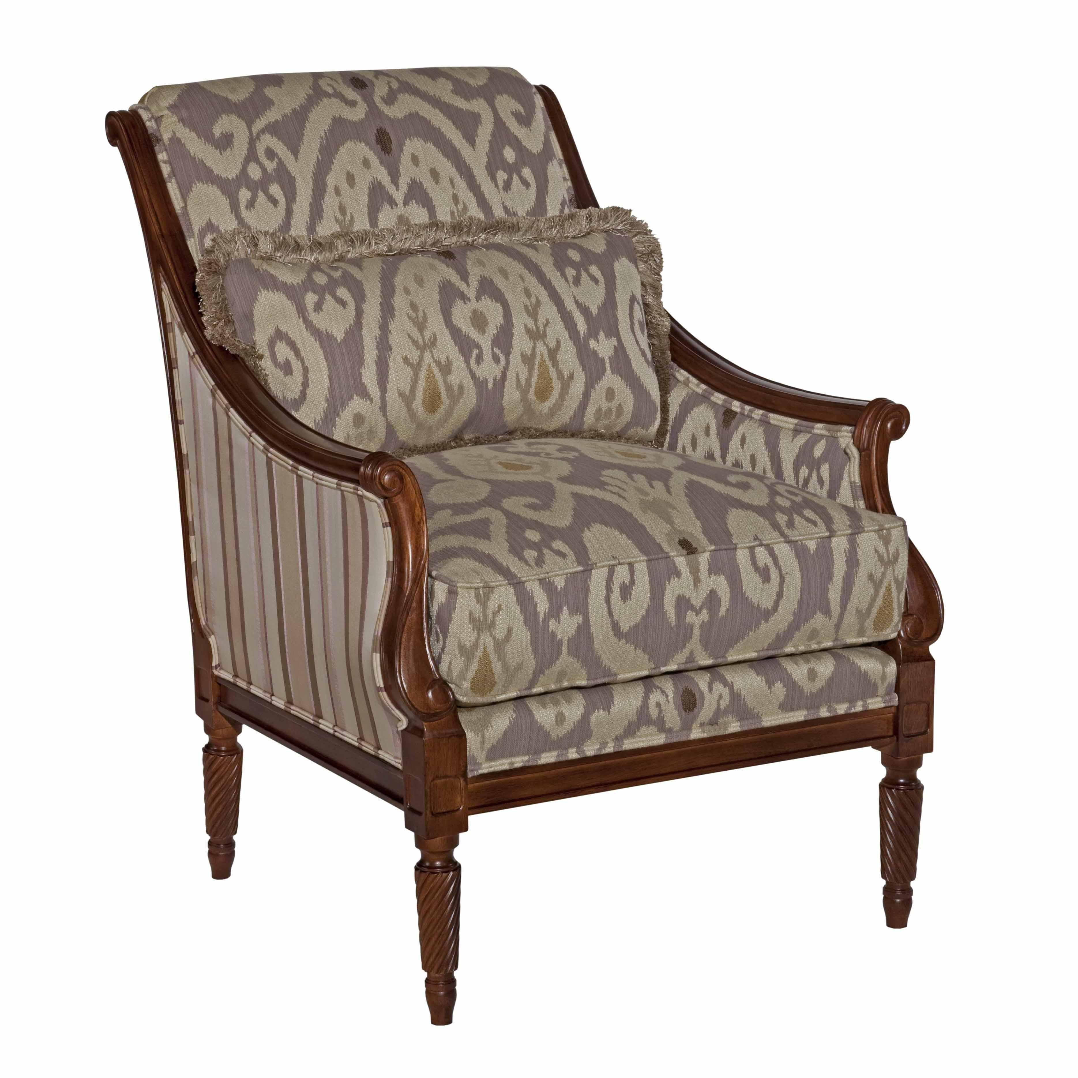 Kincaid Furniture Accent Chairs Wooden Arm Accent Chair
