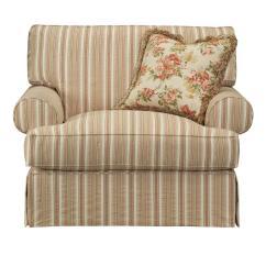 Oversized Upholstered Chair West Elm Desk Kincaid Furniture Malibu 802 84 Skirted