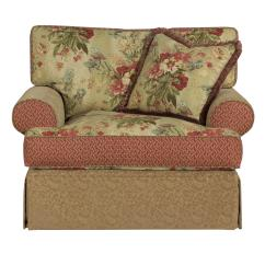 Oversized Upholstered Chair Dining Covers Big W Australia Kincaid Furniture Malibu Skirted Stuckey