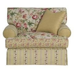 Oversized Upholstered Chair Child S Desk Uk Kincaid Furniture Malibu Skirted Johnny
