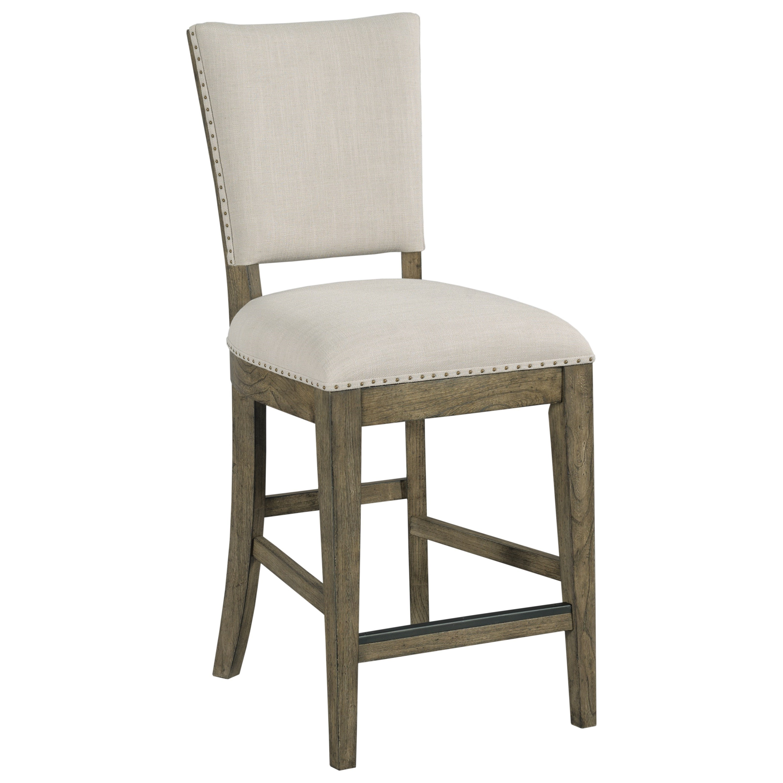 upholstered counter height chair high back sling patio chairs kincaid furniture plank road 706 691s kimler