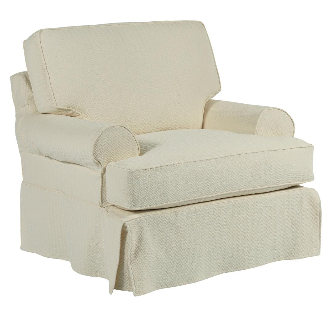 roll arm chair slipcovers where to buy dining chairs kincaid furniture samantha slipcover with rolled