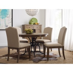 Rustic Metal Kitchen Chairs Childs Couch Chair Kincaid Furniture The Nook 44 Quot Round Solid Wood Dining