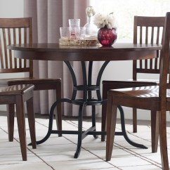 Rustic Metal Kitchen Chairs Orange Stackable Kincaid Furniture The Nook 44 Quot Round Solid Wood Dining