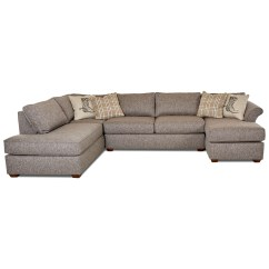 3 Pc Sectional Sofa With Recliners Ava Scs Klaussner Jaxon Three Piece Flared