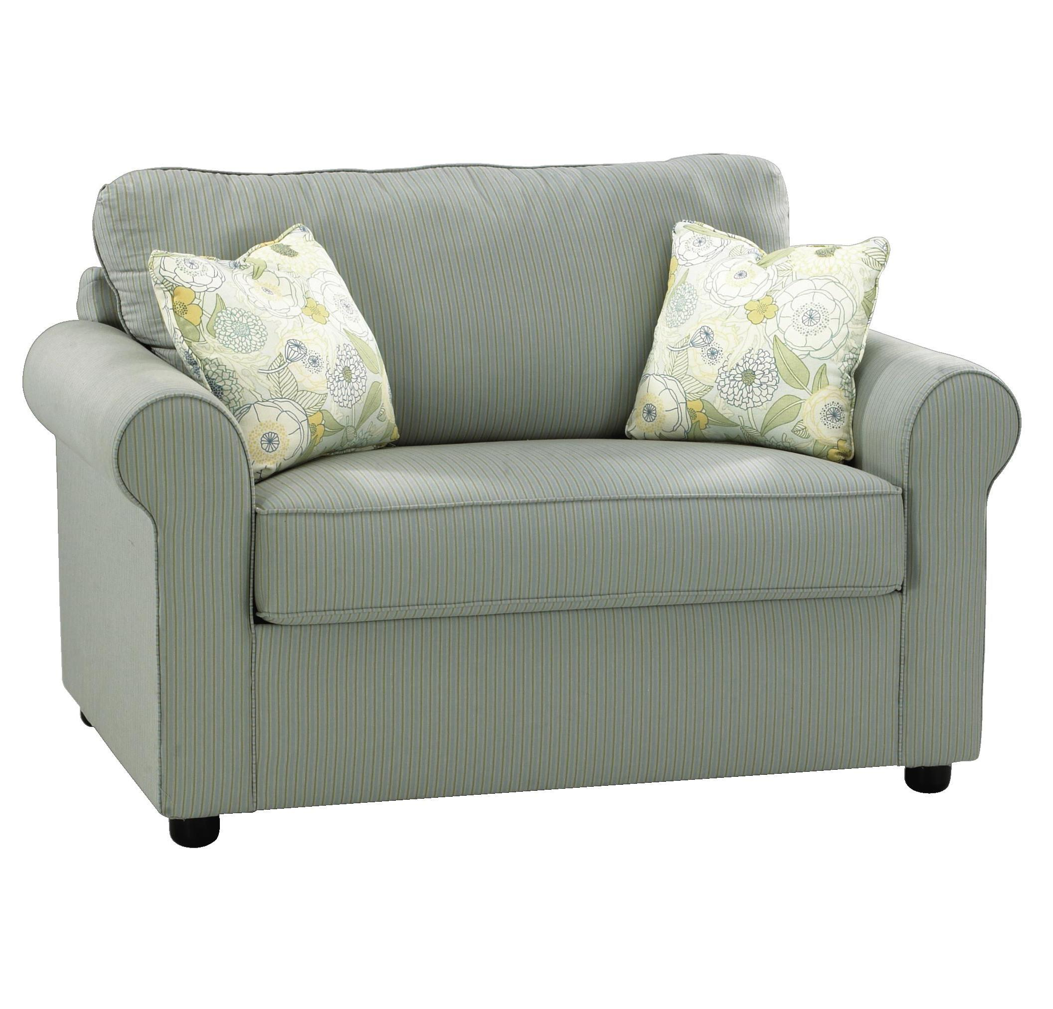 chair and half sleeper sofa flexsteel bexley traditional with nailhead trim klaussner brighton dreamquest a